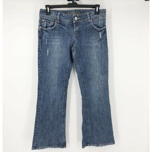 AEO Womens Size 12 Short Low Rise Bootcut Jeans